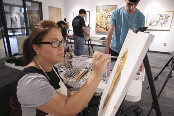 Studio art majors learn from current and historical masters