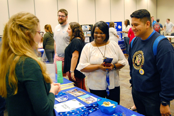 Students get in-depth information about careers in student affairs and enrollment management