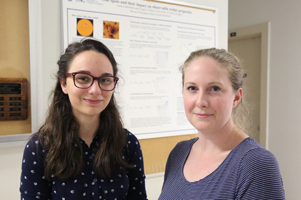 Pair of physics majors present starspot research at multiple conferences