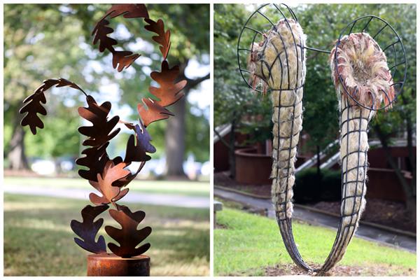 New sculptures added to outdoor art exhibit
