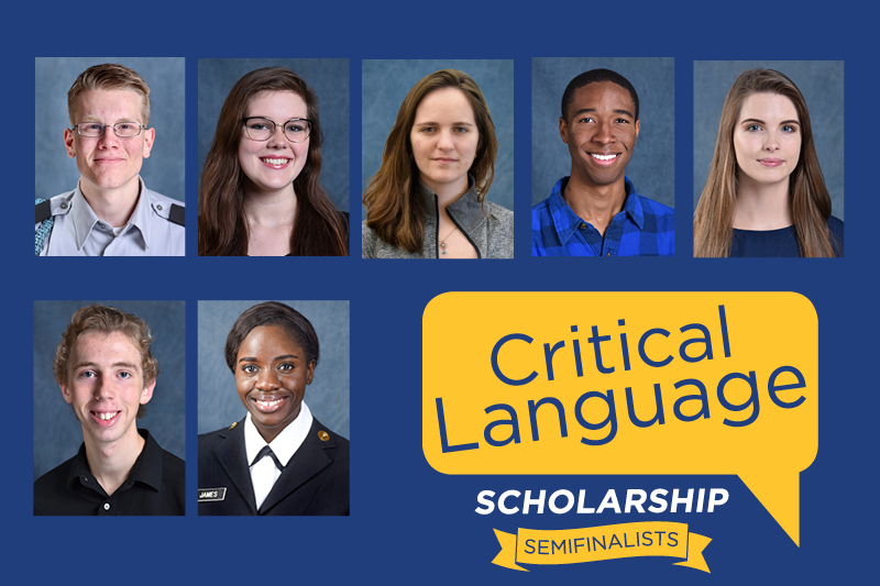 Seven students selected as Critical Language Scholarship semifinalists