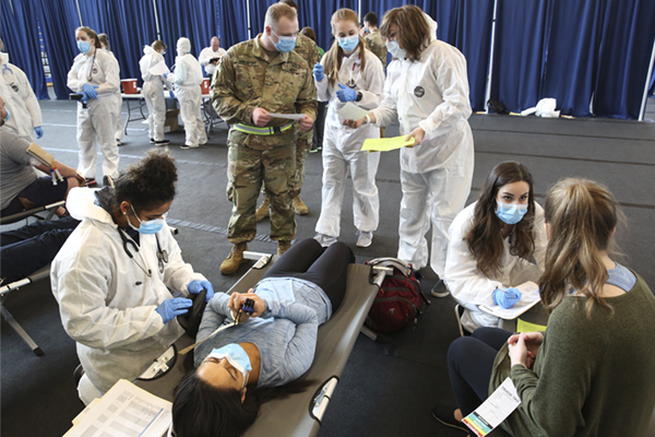 Mock emergency provides valuable experience for students