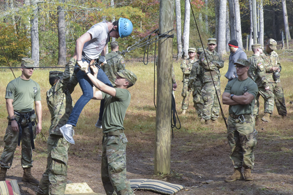 Weekend event gives high school students taste of Corps of Cadets