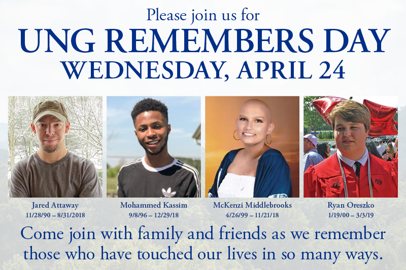 UNG Remembers Day to honor four students