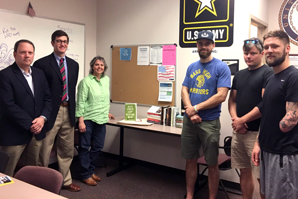 Sigma Tau Delta replenishes books in Military Resource Center