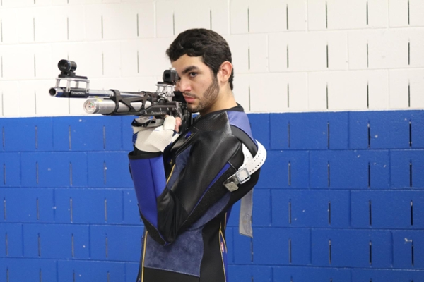 Rifle student-athlete in top 25 nationally in two Junior Olympics events