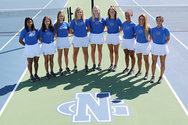 The UNG women's tennis teach reached the 2019 Elite Eight and finished 22-6, setting a program record for wins.