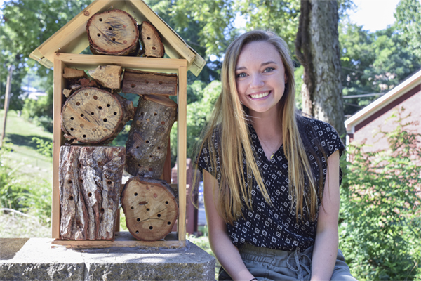 Bee hotels lead UNG to participate in pollinator census