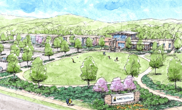 UNG's new standalone Blue Ridge Campus is set to open in time for classes beginning fall semester 2020.