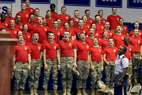 Boar's Head Brigade-Corps Alumni Weekend provides career advice for cadets