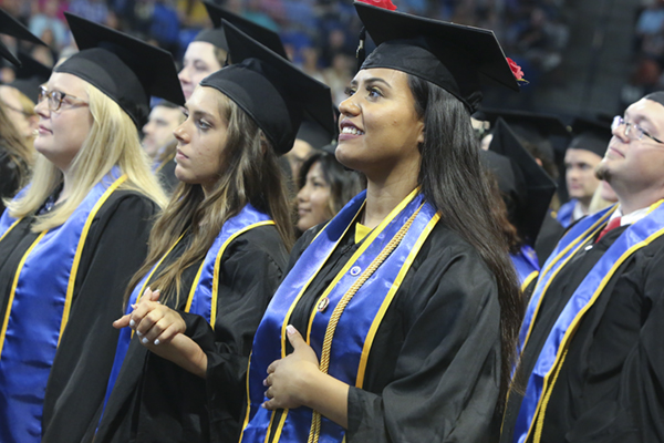 Nearly 300 graduate at summer commencement