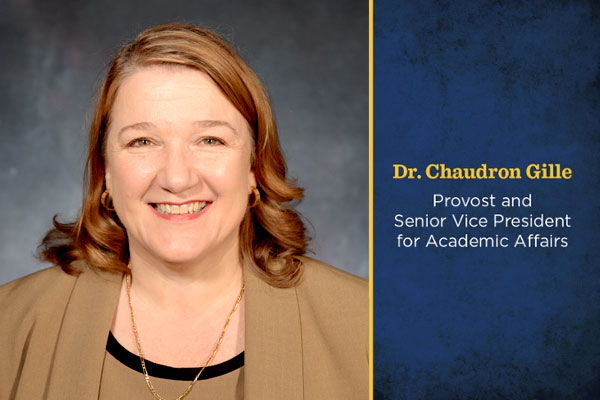 Dr. Chaudron Gille has been named provost and senior vice president for Academic Affairs at UNG.