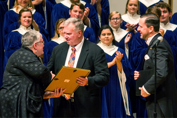 Music professor receives achievement award from his alma mater