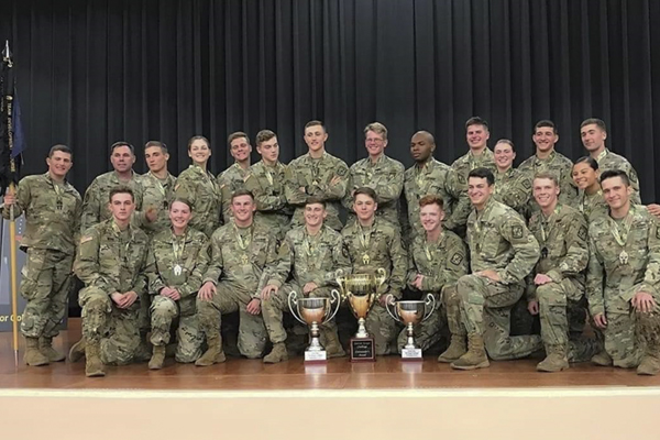 UNG's Ranger Challenge teams finished first and second at the Spartan Ranger Challenge. Both teams will compete at Sandhurst in April as UNG tries for a third straight ROTC title.