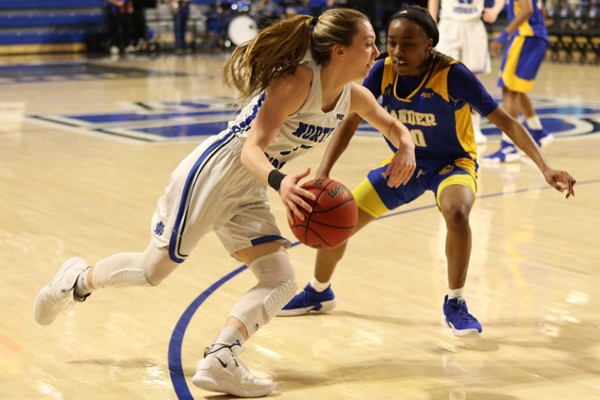 Junior guard Abbie Franklin is one of two returning starters for the UNG women's basketball team. She tallied 9.3 points and 4.6 rebounds per game to go along with a team-high 109 assists in 2018-19.