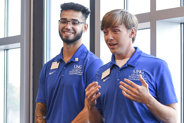 UNG students help high school students learn about education careers