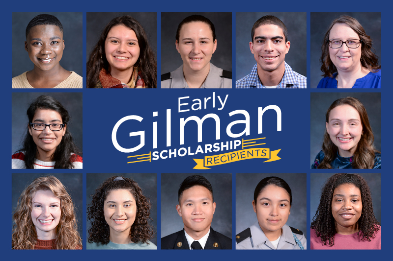 Eleven students awarded early Gilman scholarships