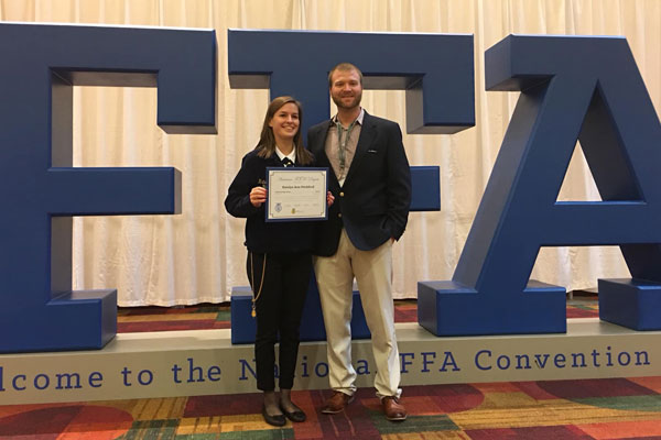 Poultry science student earns FFA American degree