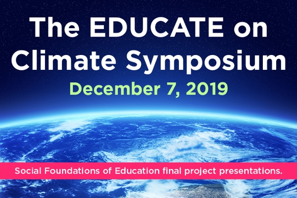 Students to present research on classroom approaches to climate change