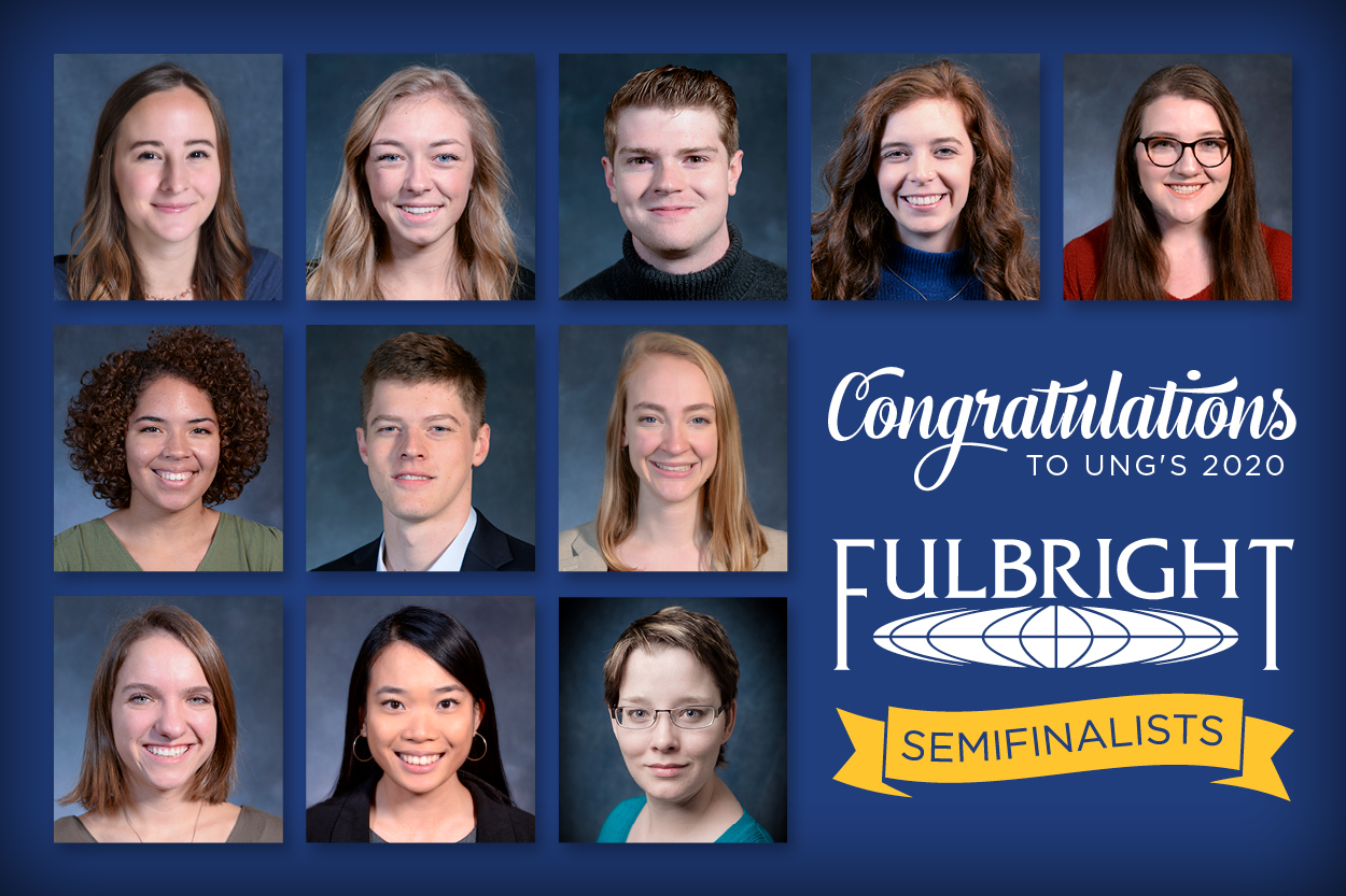 11 UNG alumni and seniors named Fulbright semifinalists