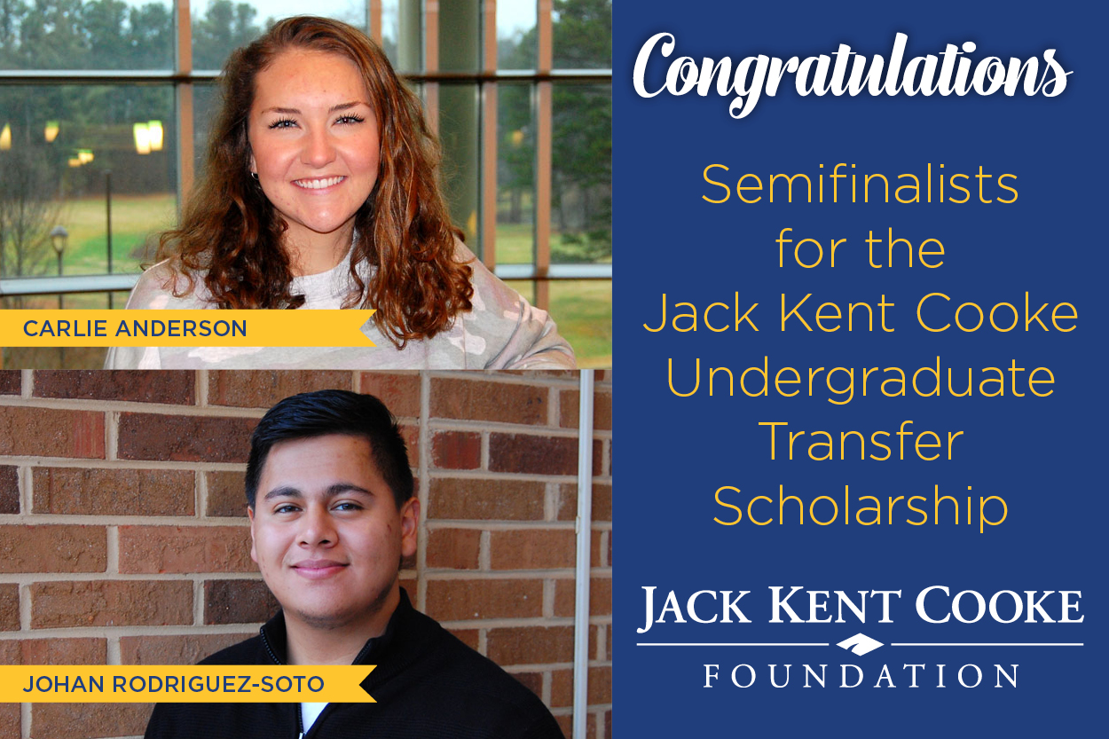 Two sophomores named Jack Kent Cooke scholarship semifinalists