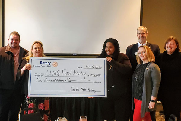 South Hall Rotary donates $5,000 to UNG Food Pantry