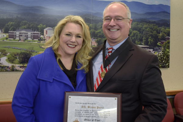 Payne receives Order of Thor for efforts to train cadets in cyber