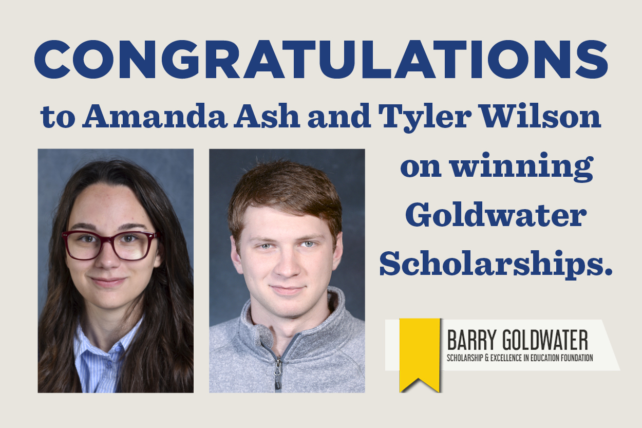 Two physics majors win Barry Goldwater Scholarship
