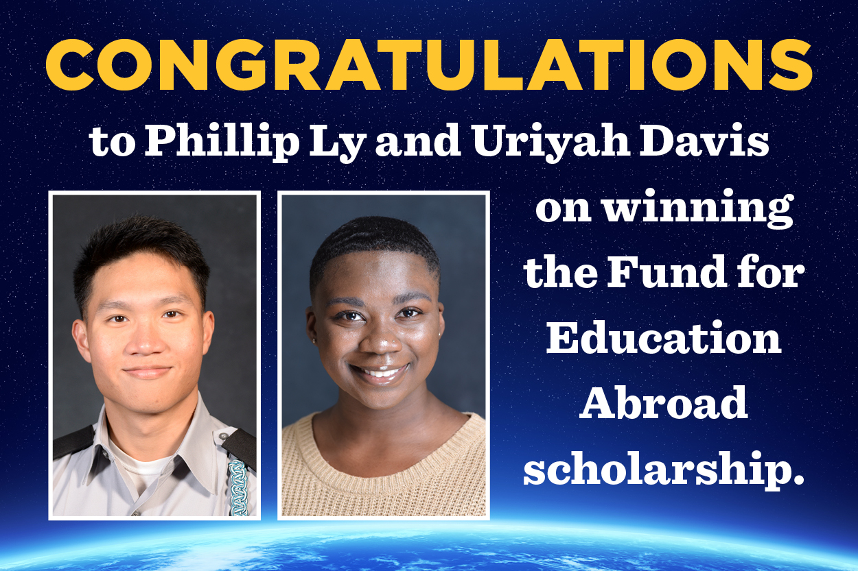Two students win Fund for Education Abroad scholarship