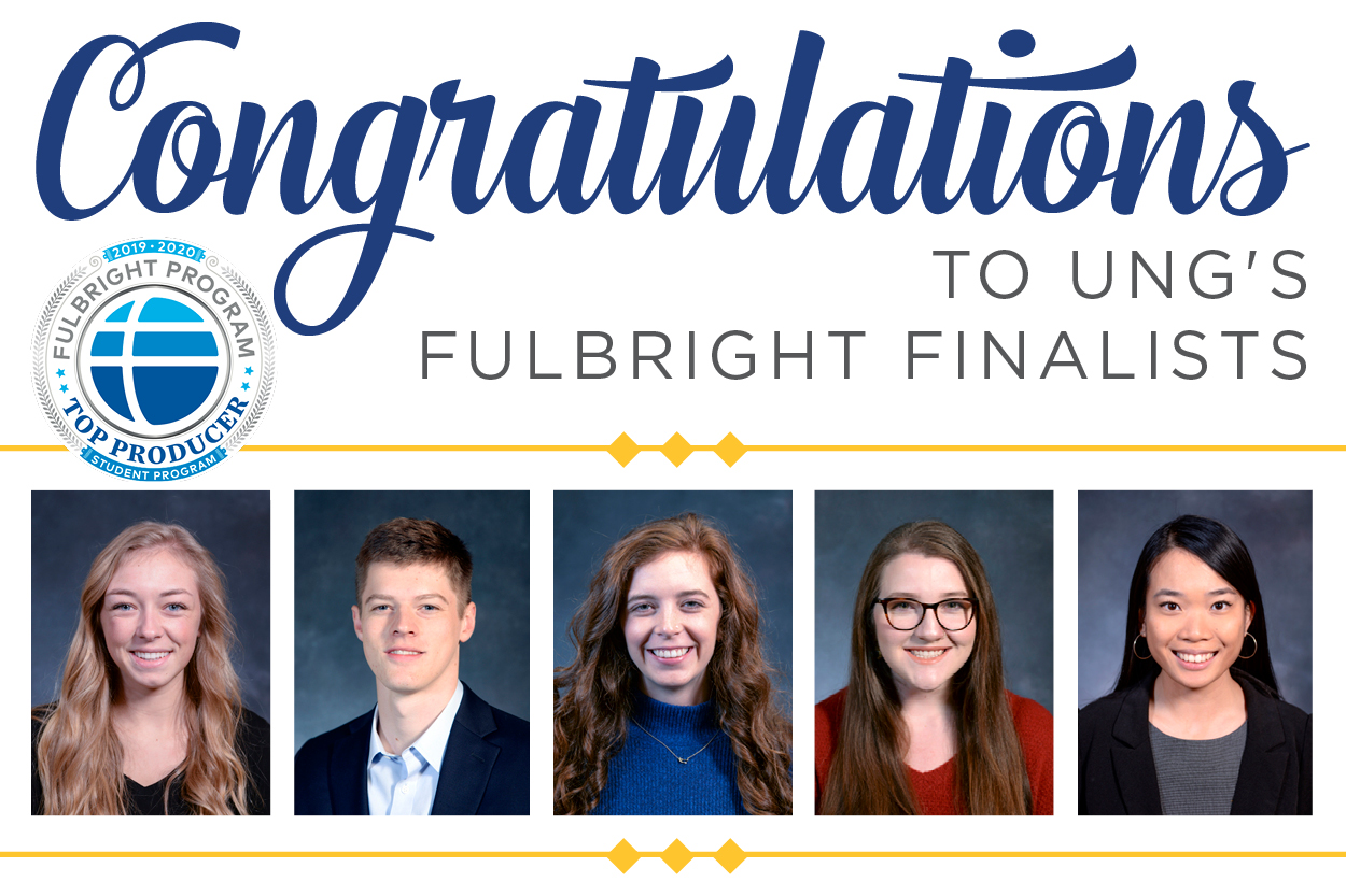 Four alumni and one senior selected as Fulbright finalists