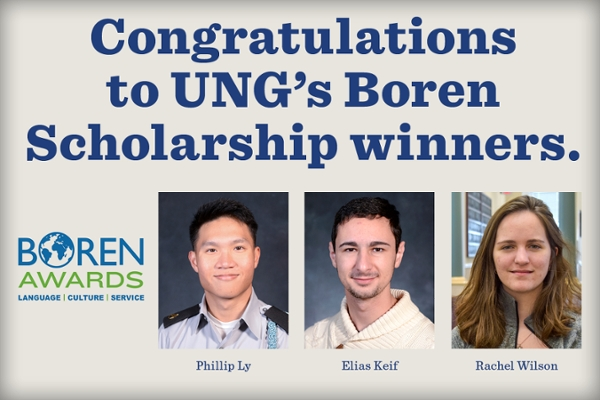 Three UNG students earn Boren Scholarships