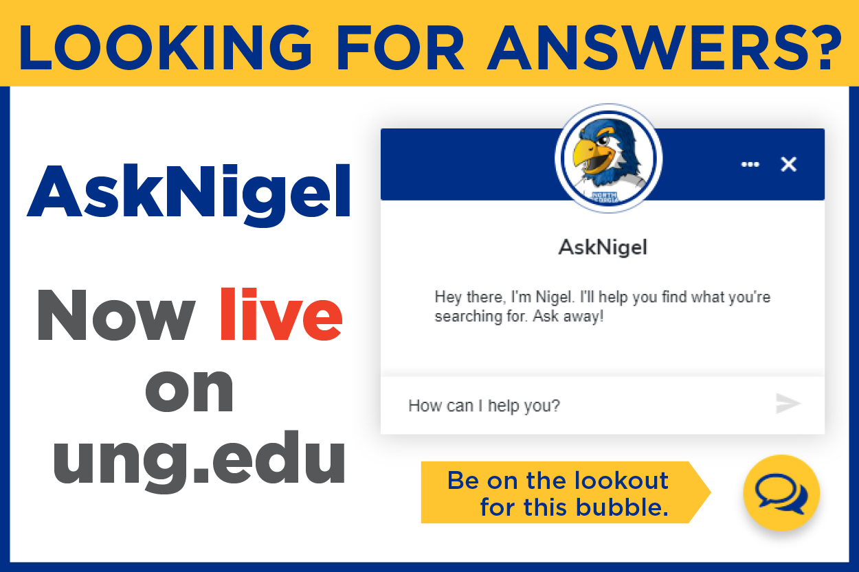 AskNigel chatbot launches on UNG website