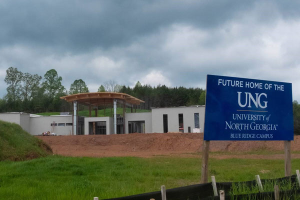 Construction on UNG's new standalone Blue Ridge Campus is nearing completion. The single-story building will be ready for occupancy in August 2020.