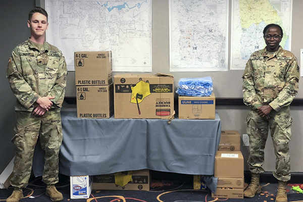Students and alumni serve in National Guard's COVID-19 response