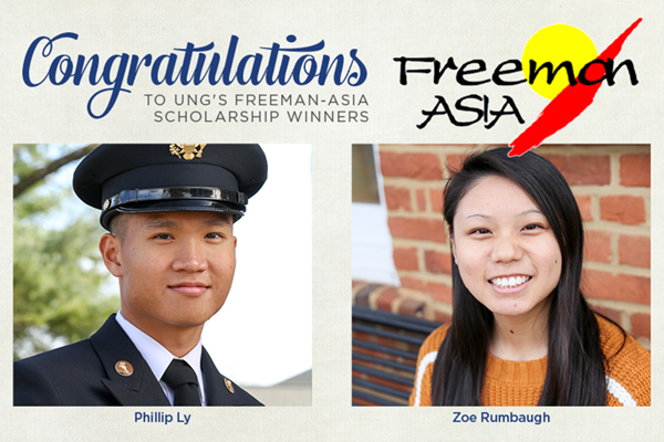 Two students win Freeman-ASIA scholarships