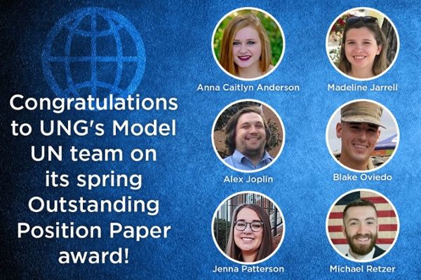 Model UN team earns Outstanding Position Paper award