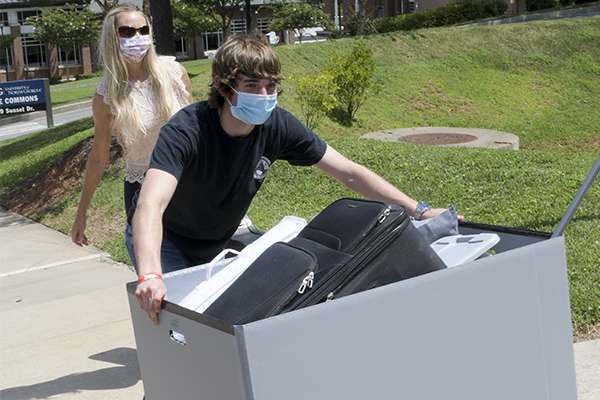 Students are moving back in on UNG's Dahlonega Campus over a longer period of time this fall to promote social distancing.