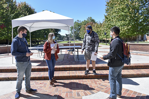 Graduate and undergraduate students aim to register and educate voters