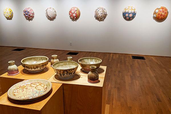 Associate professor of visual arts displays pieces in solo show
