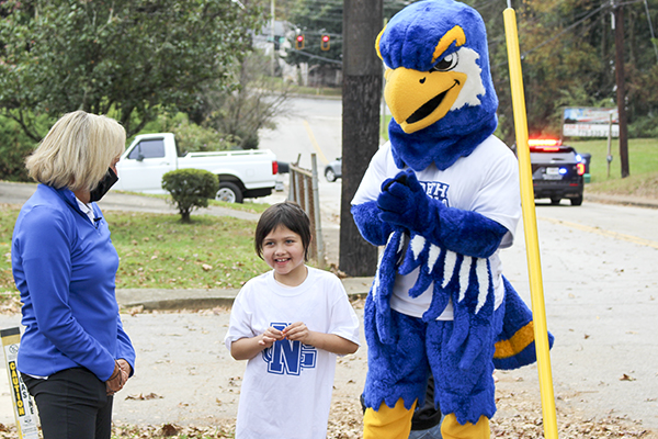UNG granted a wish for Katie, a 9-year-old from Gainesville, Georgia, through Make-A-Wish. UNG led NCAA Division II in 2019-20 with $13,800 raised for Make-A-Wish.