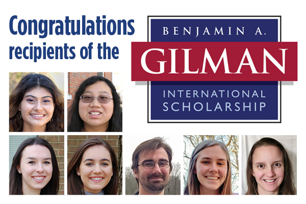 Eight students win Gilman international scholarships