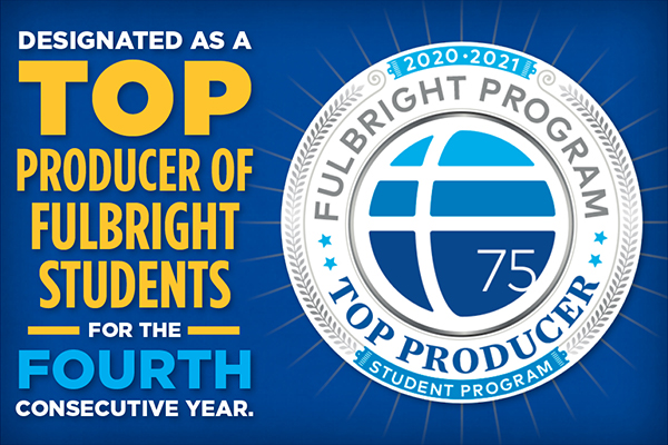 Fulbright names university top-producing institution for fourth time