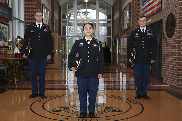 Cadets honored as Distinguished Military Graduates and Distinguished Military Students