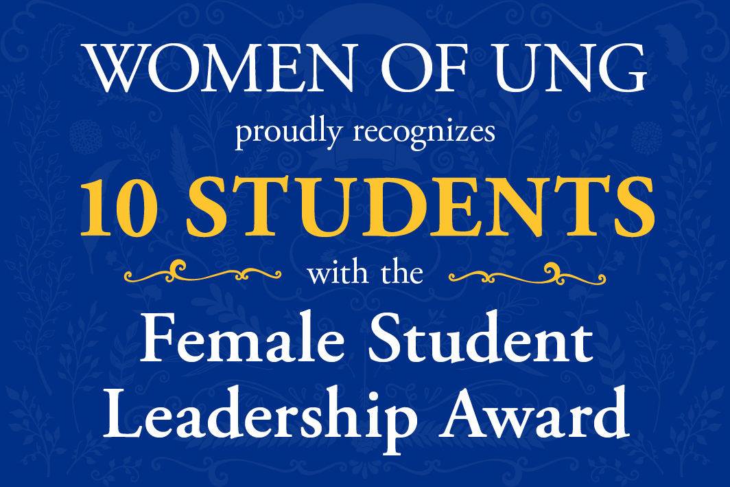 Outstanding female student leaders recognized by Women of UNG
