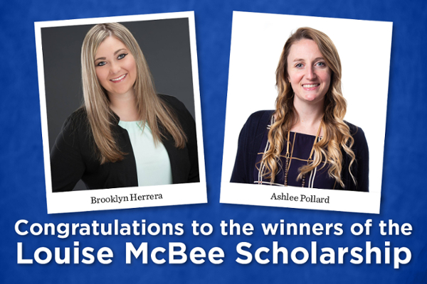 Two Ed.D. students win Louise McBee Scholarship
