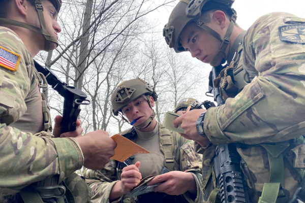 UNG's Ranger Challenge team won the ROTC title and finished fourth overall out of 44 teams at the Sandhurst Military Skills Competition held April 16-17 at the U.S. Military Academy at West Point.