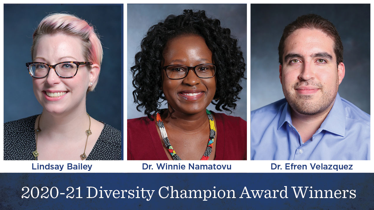 Trio honored for diversity efforts