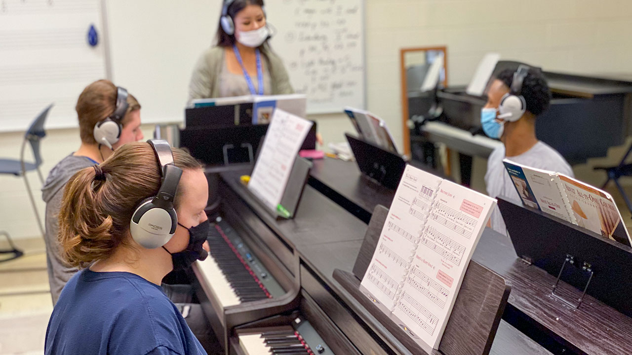 Music upgrades lab  with new equipment