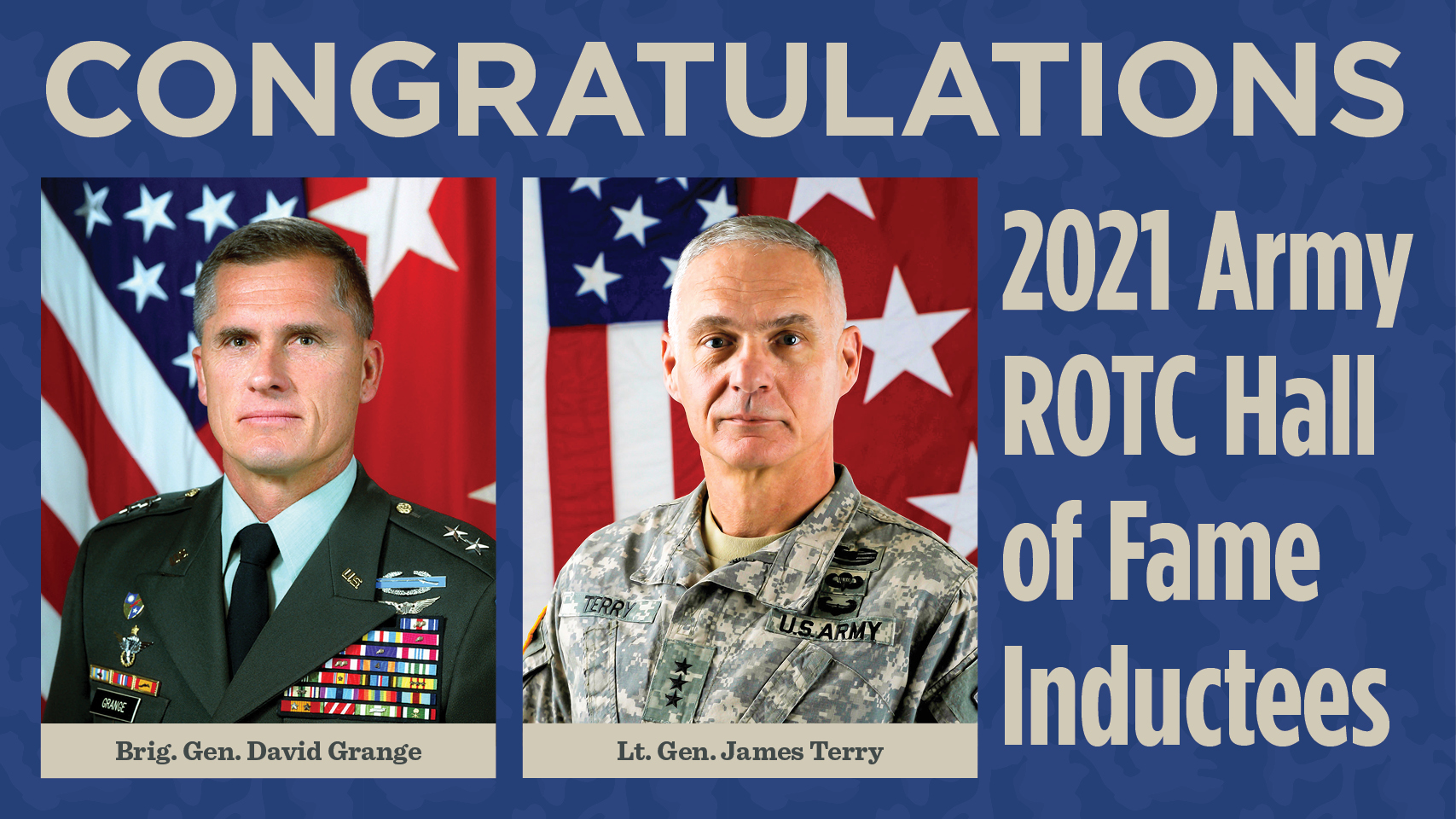 Grange, Terry inducted into ROTC Hall of Fame