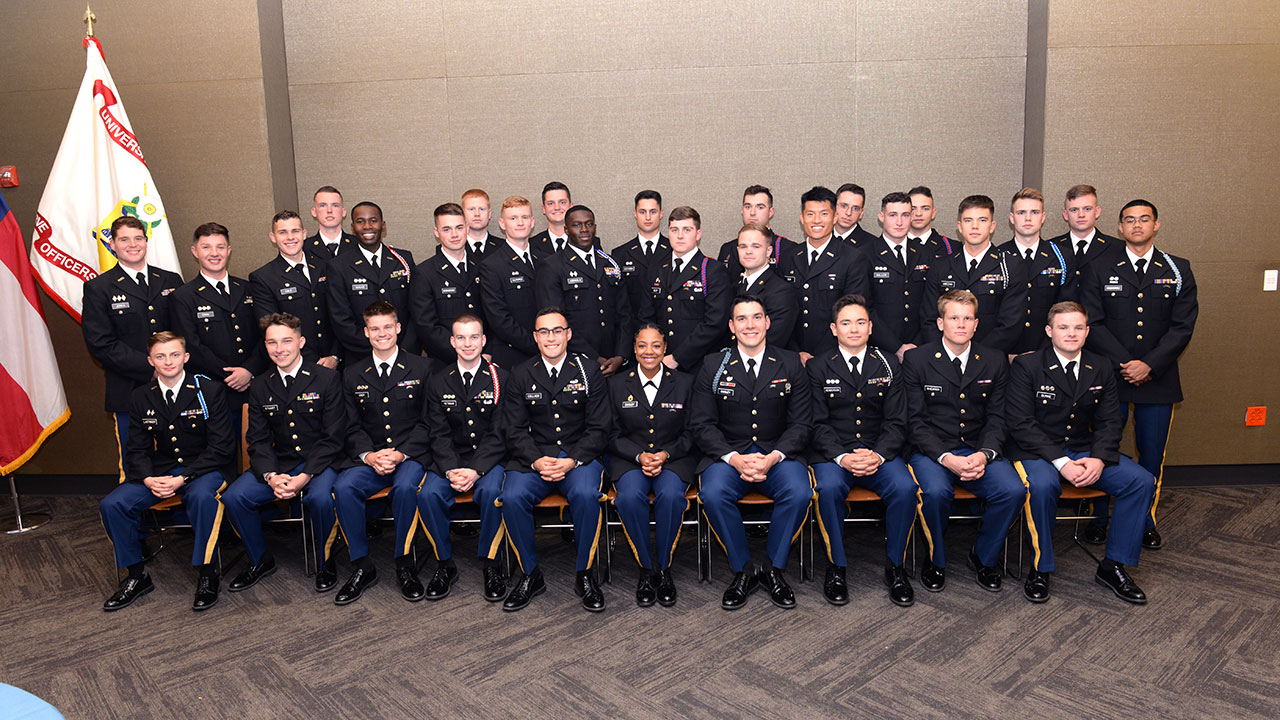Record 34 are Distinguished Military Students